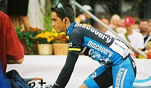 "Alberto Contador. Photo by Flickr user ""Murphy R""."