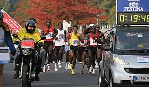 Haile Gebrselassie at the Berlin Marathon 2008. Phot by Flickr user barosz