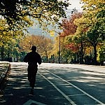 Autumn Jogger in Central Park - NYC. Photo by Flickr user ChrisGoldNY