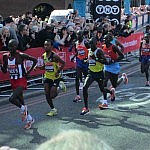 Men's elite field at the 2013 London Marathon