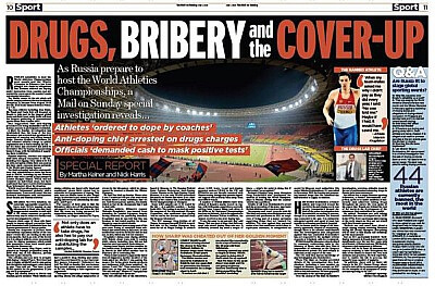 Daily Mail story Russia doping