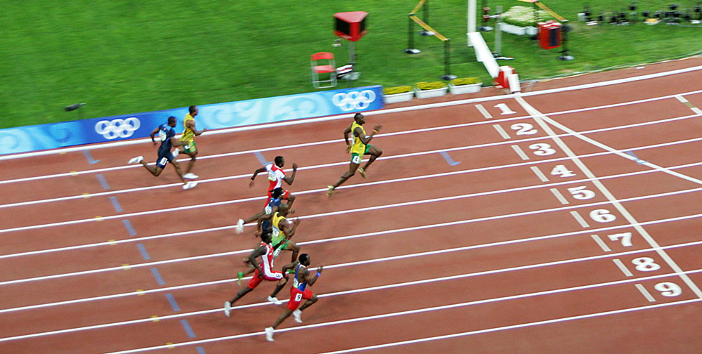 Beijing 2008 Men 100m Race Analysis on oscar pistorius london 2012